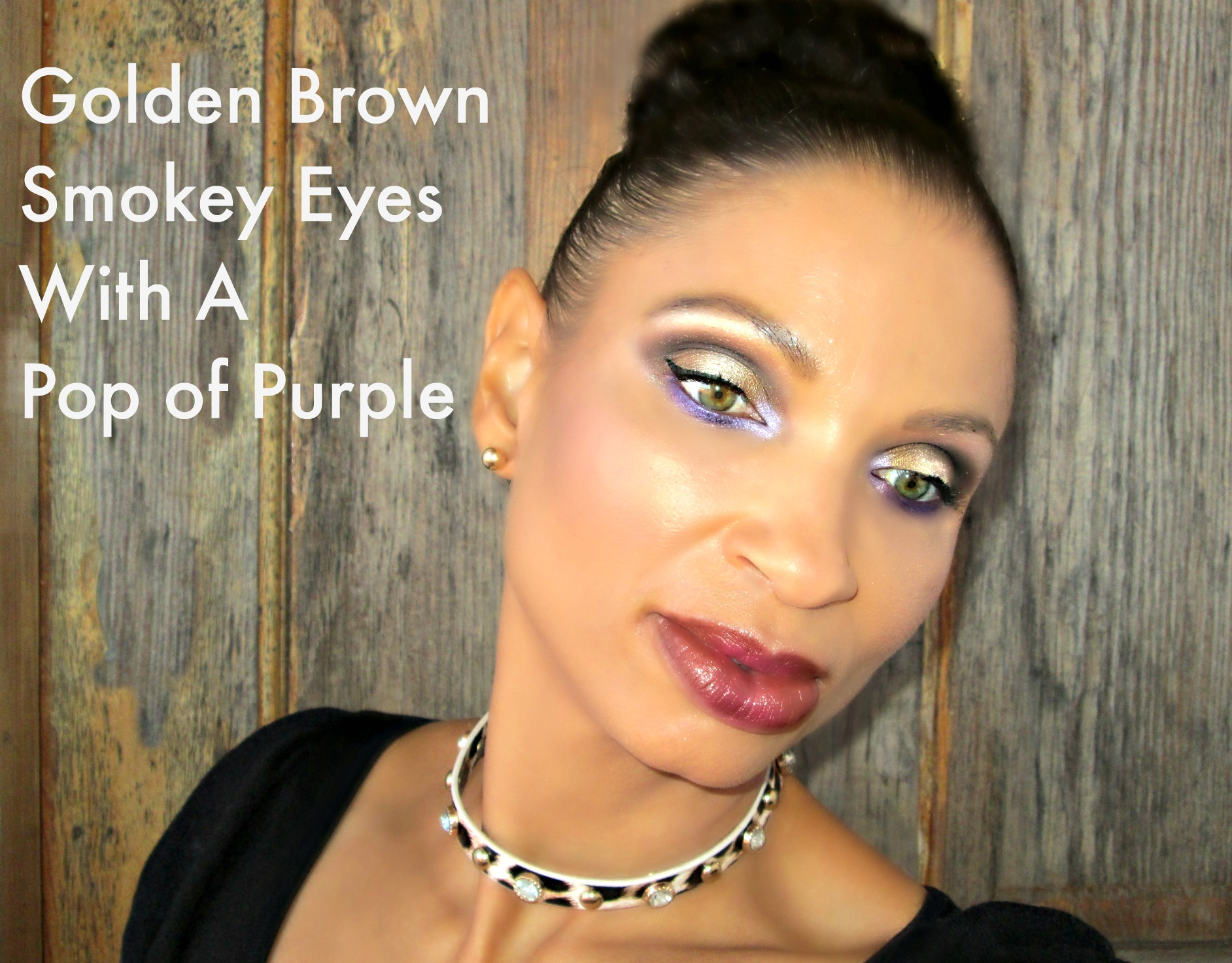Golden Smokey Eyes With a Pop of Purple